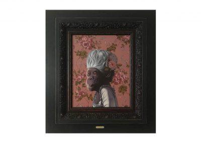 Marie Chimptoinette, oil on wood, 63 x 73,5 cm
