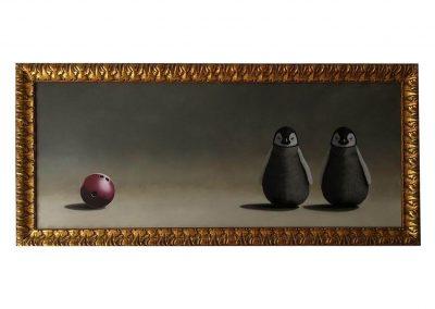Penguin Ball 196 X 88, oil on wood, 2018