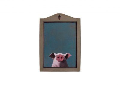 In Memorian III, oil on wood, 48 x 69 cm, 2017