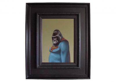 Gorilla of Steel, oil on wood, 107 x 125 cm, 2017