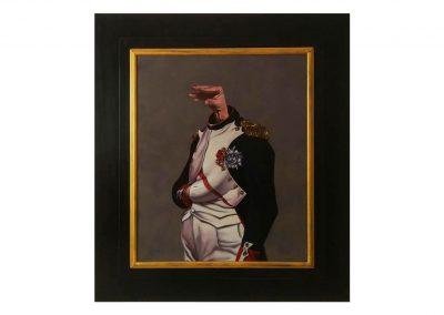 4-El Charlatán, oil on wood, 78 x 89 cm, 2019