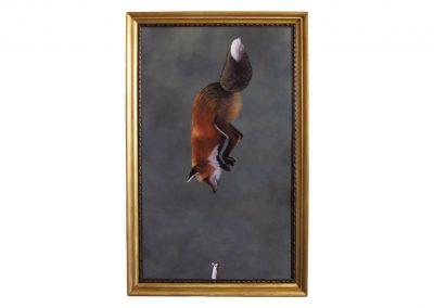 Last Portarait of a Mouse, oil on wood, 93 x 150 cm, 2017