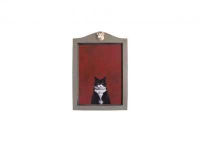 In Memorian VII, oil on wood, 48 x 69 cm, 2017