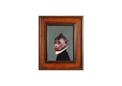 Retrato Ilustre CXVIX, oil on wood, 52,5 x 43 cm, 2016