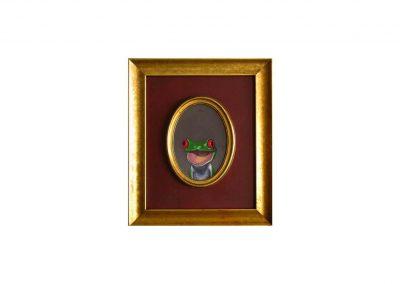 Retrato Ilustre CXIX- oil on wood, 33 x 38 cm, 2016