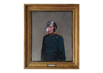 5-Sir Kristoff Tar Toffen the third, oil on wood, 80 x 93 cm, 2019
