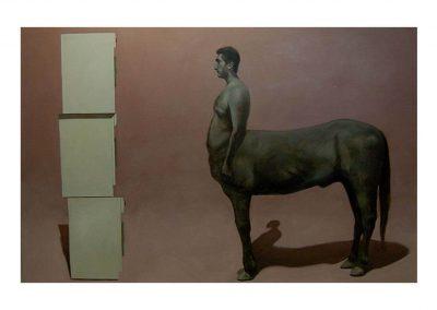 1-Id vs Ego II, oil on wood, 122 x 190 cm, 2000