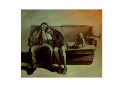 20-Ig vs Ego III, oil on wood, 110 x 135 cm, 1998