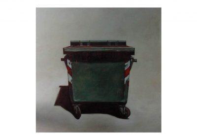 26- Estudio para un retrato VI, oil on wood, 114 x 114 cm, 2000