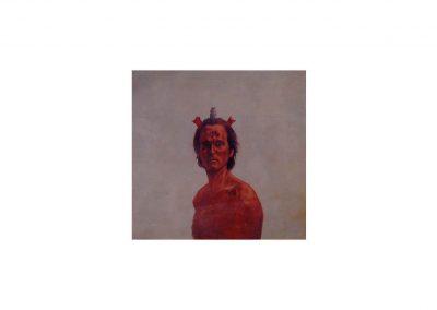 3-Homenaje a Francis Bacon, oil on wood, 80 x 80 cm, 1999