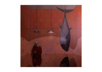 30-REM III, oil on wood, 200 x 200 cm dyptich, 2005