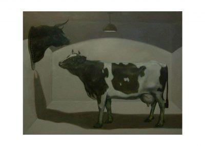 4-Id vs Ego II, oil on wood, 114 x 146 cm,1999