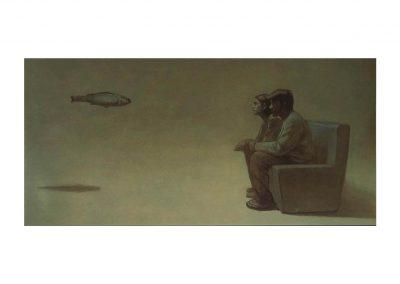 7-Estudio para un paisaje XII, oil on wood, 100 x 200 cm, 2000