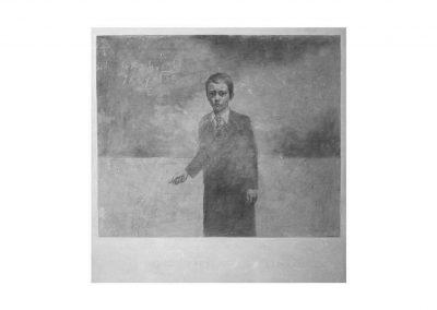 8-Homo Sapiens Sapiens VII, pencil on paper over wood, 100 x 100 cm, 1998