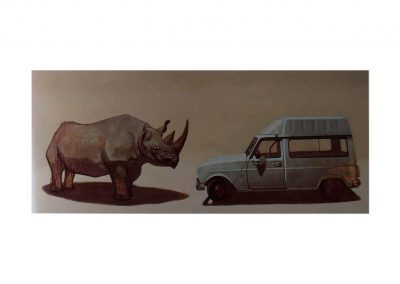 9-Estudio para un paisaje X, oil on wood, 100 x200 cm, 2000